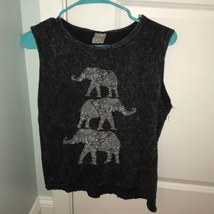 Elephant Graphic muscle tank